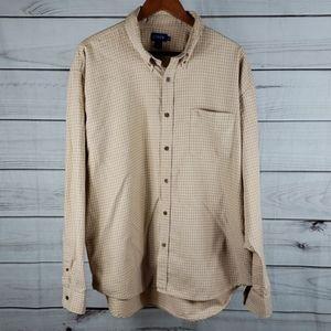 J.Crew• XL shirt button up long sleeve tan